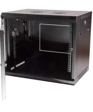 9U 600X450 WALL-MOUNTED RACKMOUNT CABINET BLACK